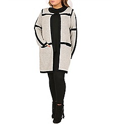 Samya - Beige cardigan with contrast border