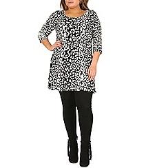 Samya - Black leopard print top