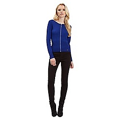 Jane Norman - Blue bomber zip cardigan