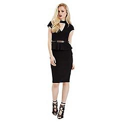 Jane Norman - Black peplum choker dress