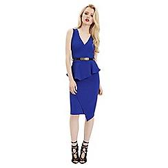 Jane Norman - Blue peplum belted dress