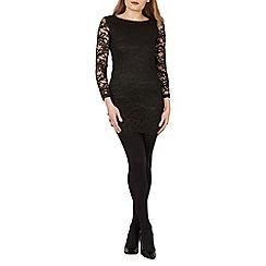 Mela - Black lace bodycon dress