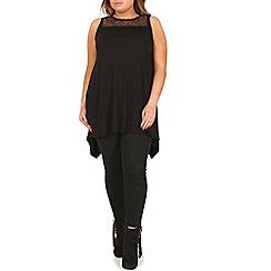 Samya - Black sleeveless lace top
