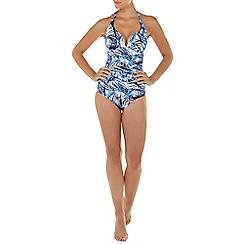 Seaspray - Multicoloured Fiji plunge halter neck swimsuit