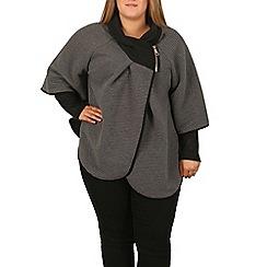 Samya - Grey zip neck poncho jacket
