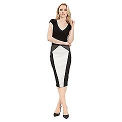 Jane Norman - Multicoloured mono colourblock skirt