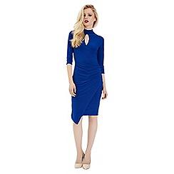 Jane Norman - Blue choker wrap dress
