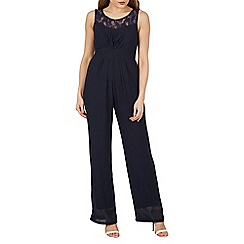 Mela - Navy lace sweetheart jumpsuit