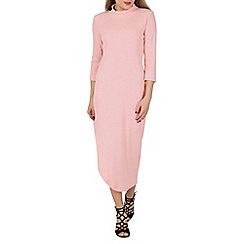 Indulgence - Pink high neck maxi dress