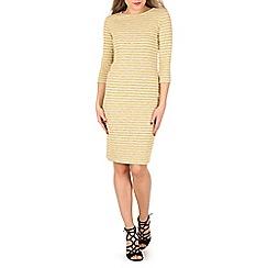 Indulgence - Mustard 3/4 sleeve midi dress
