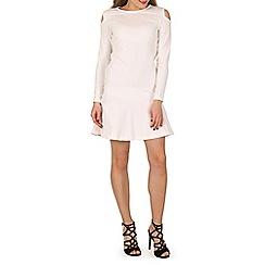 Indulgence - Cream cold shoulder dress