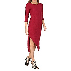 Indulgence - Red double asymmetric dress