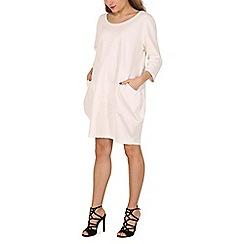 Indulgence - Cream oversize plain dress