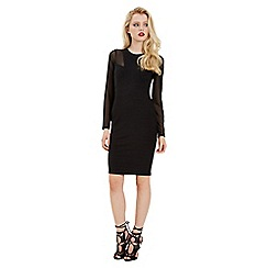 Jane Norman - Black bandage and mesh sleeve dress