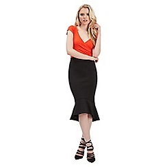 Jane Norman - Black trumpet hem skirt