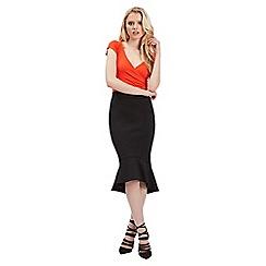 Jane Norman - Black trumpet hem skirt