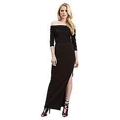 Jane Norman - Black maxi side split skirt