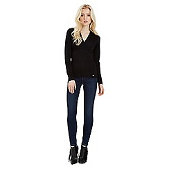 Jane Norman - Black v-neck wrap jumper