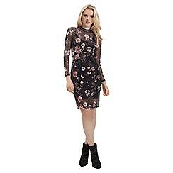 Jane Norman - Multicoloured bodycon mesh dress