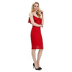 Jane Norman - Red lace bardot dress