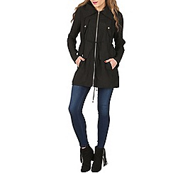 Izabel London - Black long sleeve zip up jacket