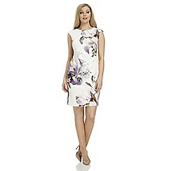 Roman Originals - Ivory scuba print dress
