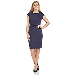 Roman Originals - Navy textured crepe shift dress