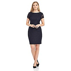 Roman Originals - Navy lace ribbon dress