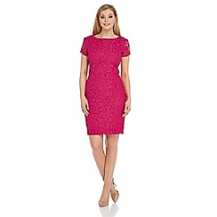 Roman Originals - Purple lace v back dress