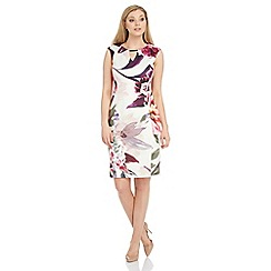 Roman Originals - Purple floral scuba dress