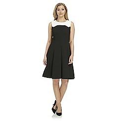 Roman Originals - Black contrast mono dress