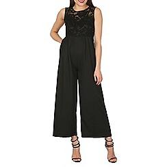 Mela - Black wide leg jumpsuit
