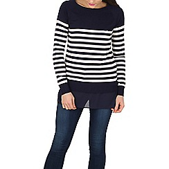 Apricot - Navy nautical underlay jumper