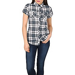 Apricot - Blue checked jersey shirt