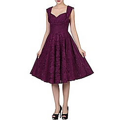 Jolie Moi - Dark purple  ruched crossover bust prom dress