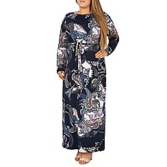 Samya - Navy printed maxi dress