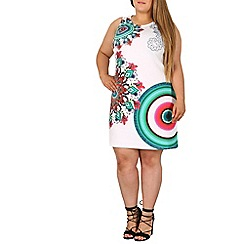 Samya - White printed bodycon dress