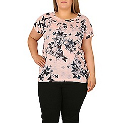Samya - Light pink oversized butterfly print top