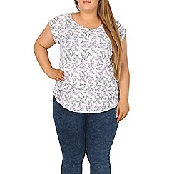 Samya - White bird print t-shirt