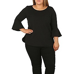 Samya - Black flare sleeve top