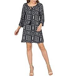 Izabel London - Navy 3/4 length sleeve tunic dress