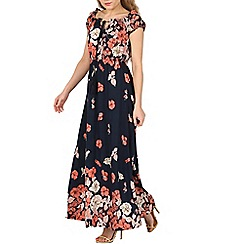 Izabel London - Navy floral print maxi dress