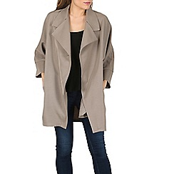 Izabel London - Khaki oversized boyfriend jacket