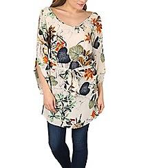 Izabel London - Cream floral print tunic top