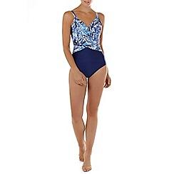 Seaspray - Multicoloured Fiji cross drape strap swimsuit