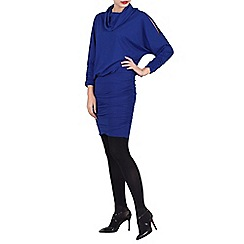 Jolie Moi - Royal cowl neck batwing sleeved tunic