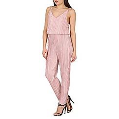 Mela - Pink crinkle jumpsuit