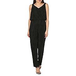 Mela - Black crinkle jumpsuit