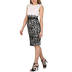Izabel London - Black laced skirt pencil dress