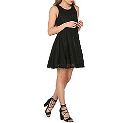 Izabel London - Black floral lace skater dress